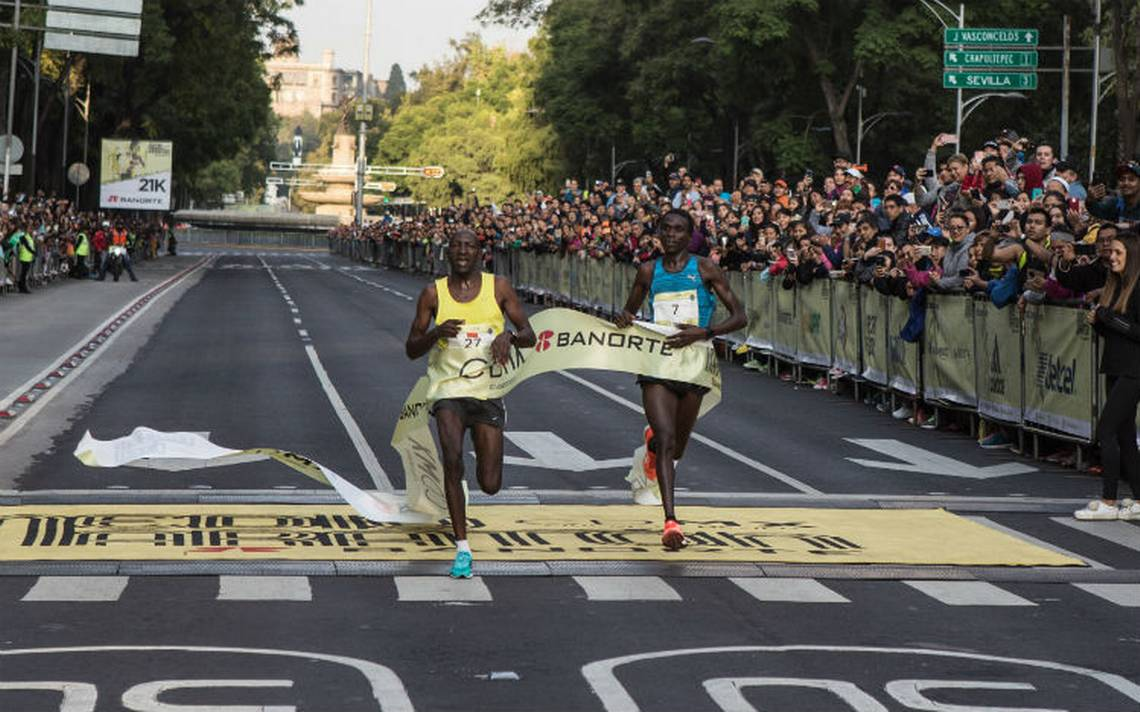 Africanos dominan el Medio Maratón de la CDMX; mexicanos llegan en quinto lugar