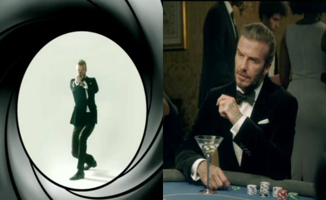 [Video] David Beckham… ¿el próximo James Bond?