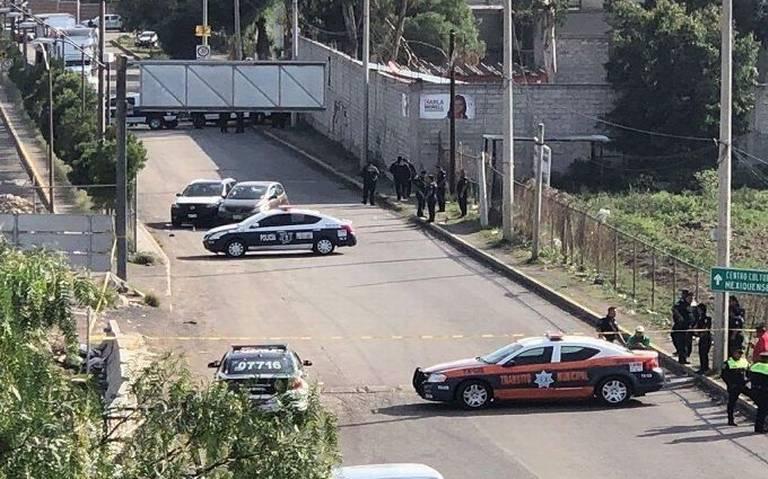 Enfrentamiento entre policías y delincuentes deja dos muertos en Texcoco