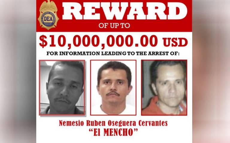 Aumenta a 10 millones de dólares la recompensa por El Mencho