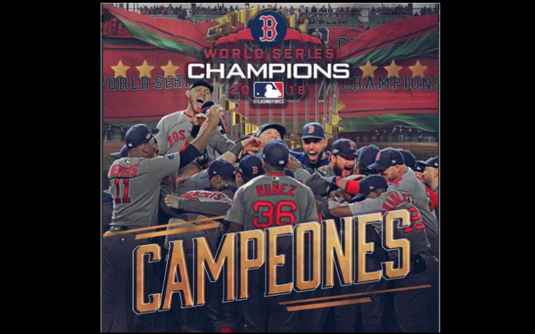 Red Sox de Boston campeones de las Grandes Ligas
