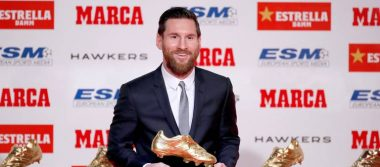Estoy en el mejor equipo del mundo: Messi recibe su quinta Bota de Oro