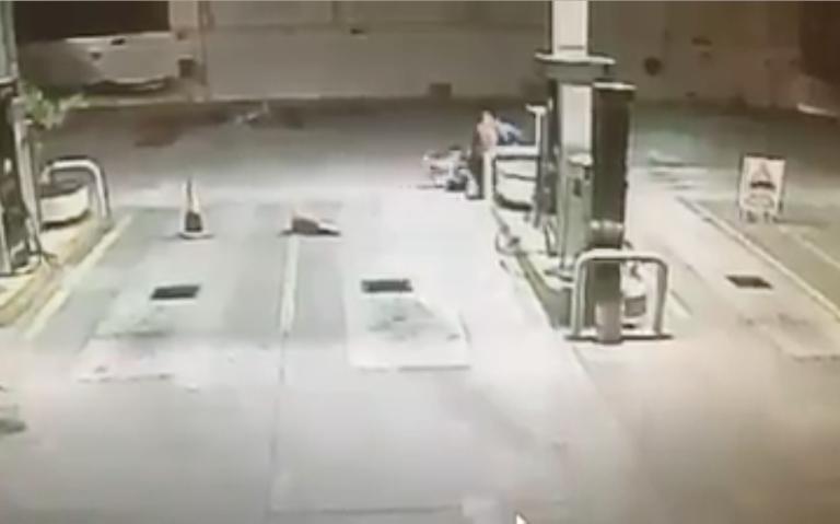 [Video] ¡Héroe de cuatro patas! Perrito detiene atraco a gasolinera