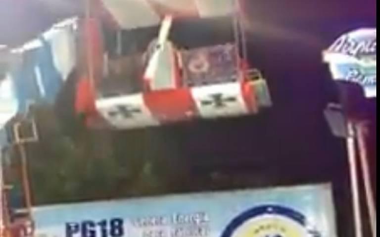 [Video] Juego mecánico pierde el control y deja 20 niños lesionados en Guanajuato