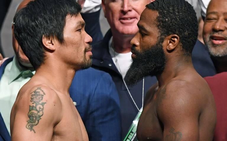 Pacquiao y Broner listos para el combate tras librar báscula