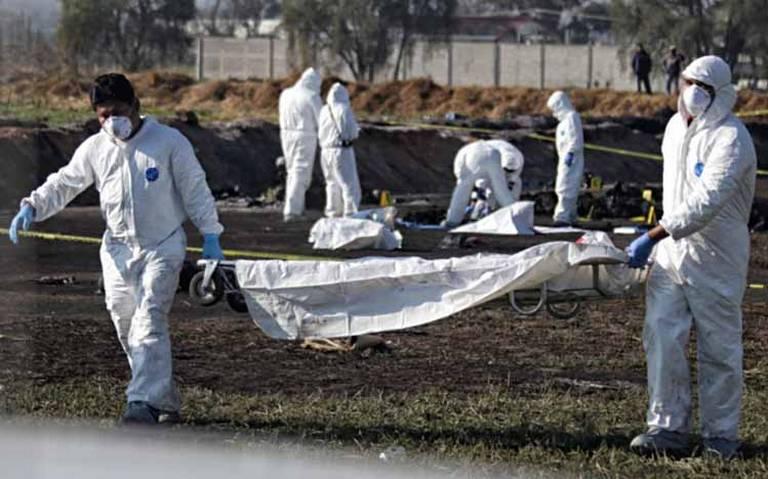 Tardarían meses en identificar cuerpos tras explosión de ducto en Tlahuelilpan: PGJEH