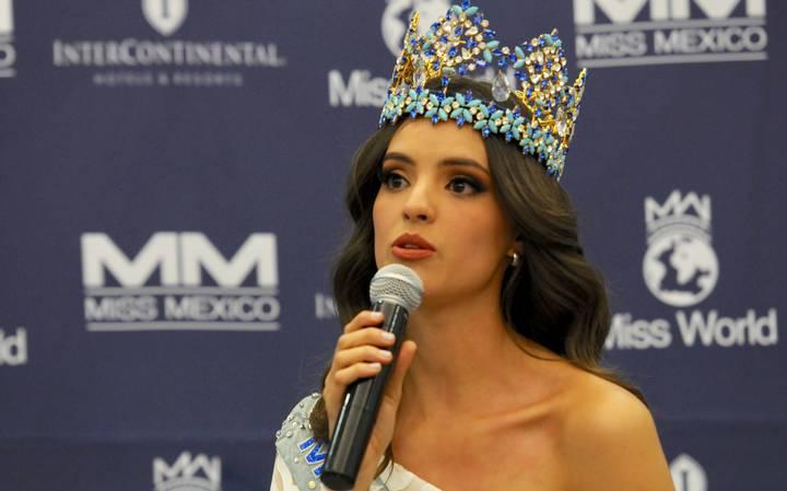 AMLO apoyará proyectos de Vanessa Ponce de León, Miss Mundo 2018