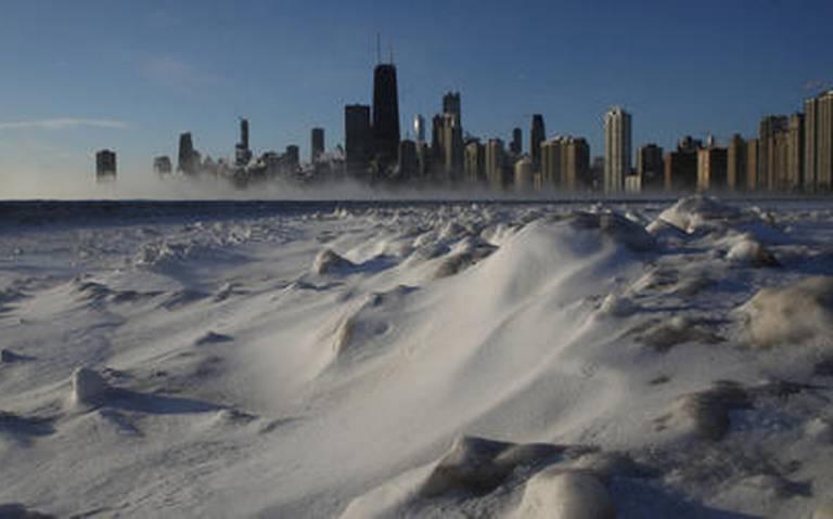 Amanece Chicago más frío que la Antártida