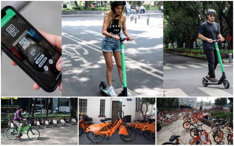 Apps de bicis y motopatines hacen su agosto ante desabasto en CDMX