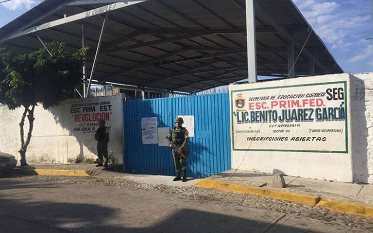 Militares resguardarán, otra vez, escuelas en Acapulco