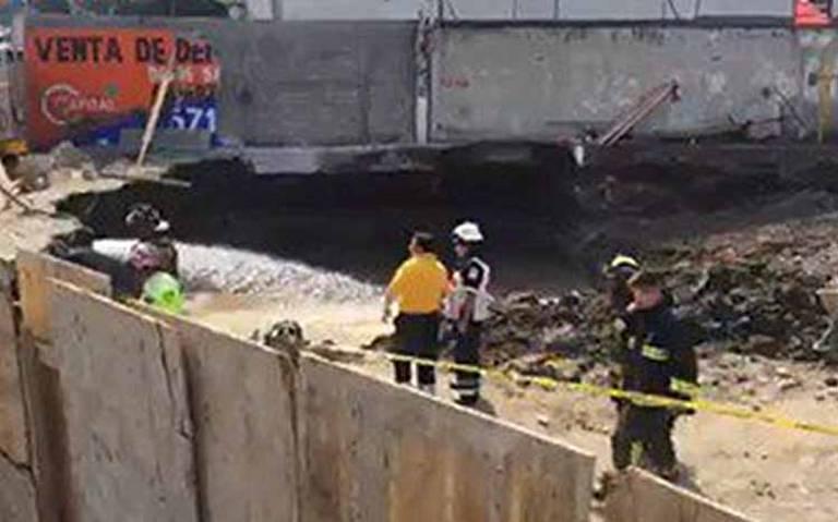 Derrumbe de obra en construcción en Gustavo A. Madero deja un muerto