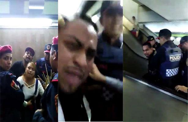 Detienen a vagonero en Metro Balderas y se hace la víctima