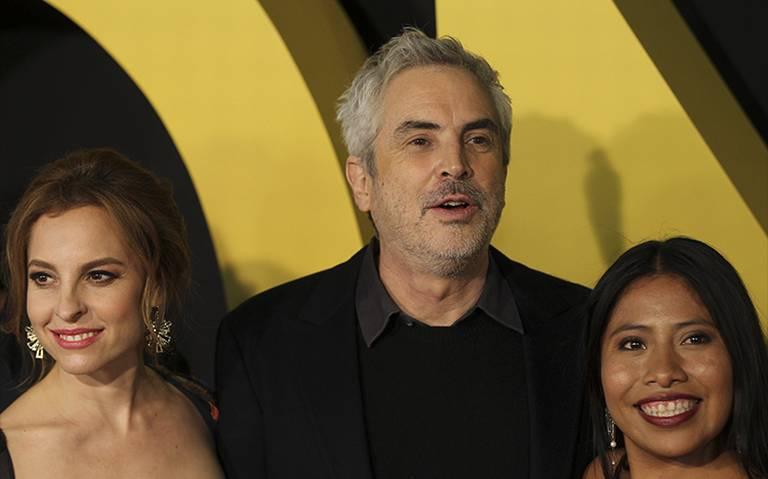 Cuarón, Yalitza y Marina posan para fotos exclusivas de los nominados al Oscar