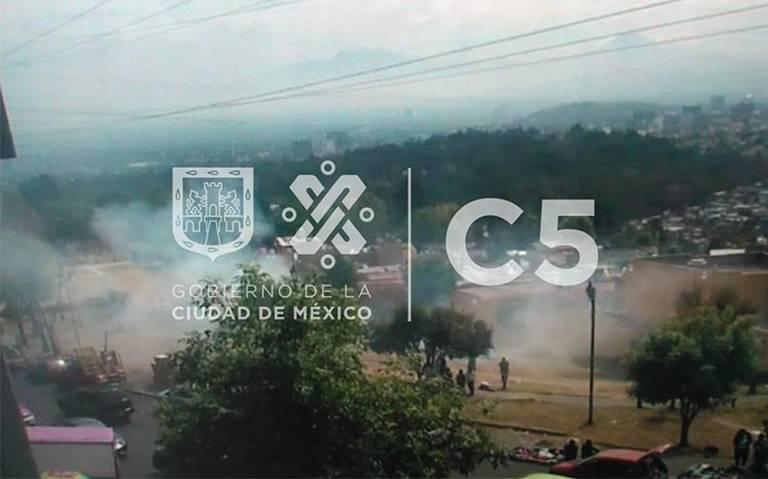 Se registra otro incendio de pastizal, ahora en Álvaro Obregón