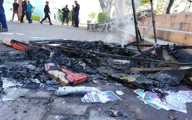 Queman urnas de consulta termoeléctrica en Amilcingo; piden justicia para Samir
