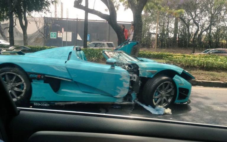 [Video] Así fue el choque del millonario auto Koenigsegg en la CDMX