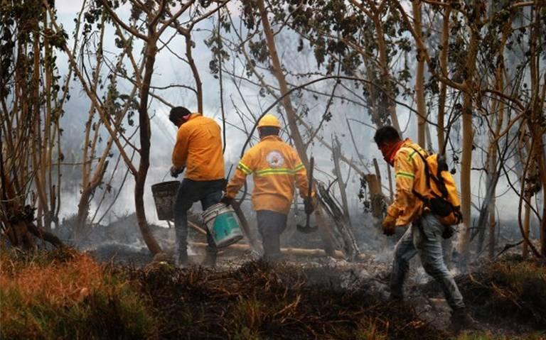 Tras incendio de pastizal en Iztapalapa, no se reportan lesionados