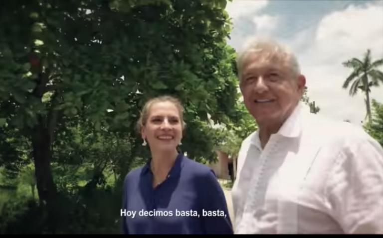 Spot de AMLO donde canta con Beatriz Gutiérrez Müller gana premio en EU