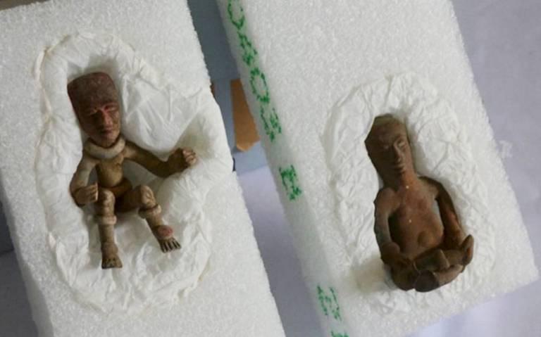 EU recupera dos piezas arqueológicas y las regresa a México