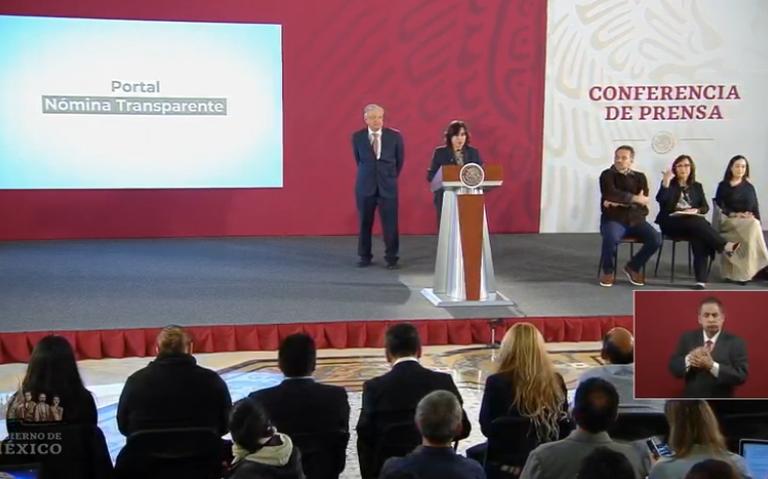 Gobierno Federal presenta plataforma para transparentar su nomina