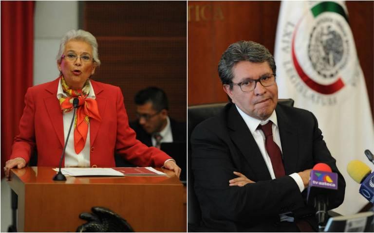 Sánchez Cordero y Monreal chocan por reforma de la Corte