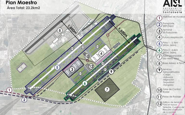 En junio de 2021 quedaría terminado el aeropuerto de Santa Lucía: Sedena