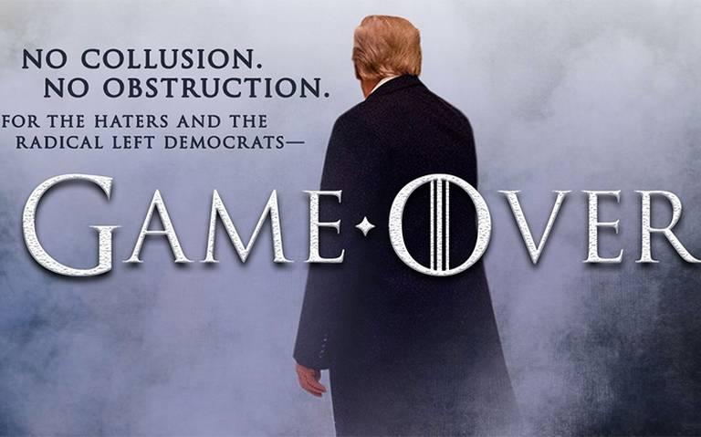 Al estilo de Game of Thrones, Trump se burla de sus detractores tras informe de trama rusa