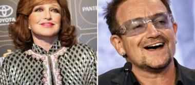 """Conoce la historia del fugaz """"romance"""" de Angélica María y Bono, de U2"""
