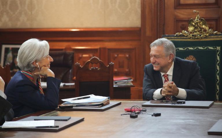 AMLO dialoga con Lagarde; FMI reconoce política fiscal de México