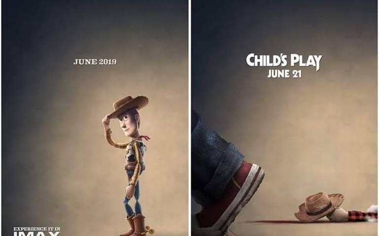 Chucky lo hizo; Woody termina masacrado en póster de Child's Play