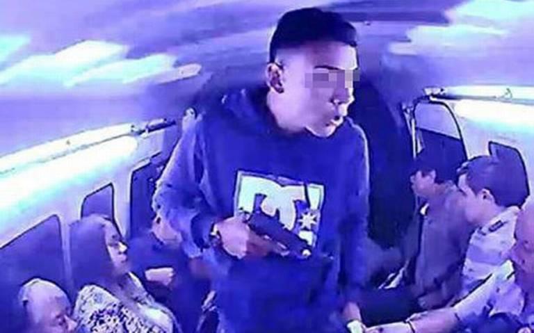 Detienen a ladrón del transporte público en Ecatepec