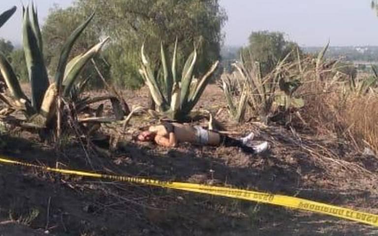 Hallan cuerpo semidesnudo en Teotihuacán