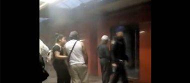 [Video] Desalojan a pasajeros en Metro Balderas por presencia de humo