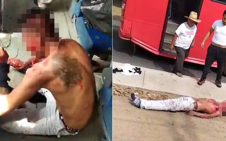 [VIDEO] Pasajeros linchan a presunto delincuente en Atlixco