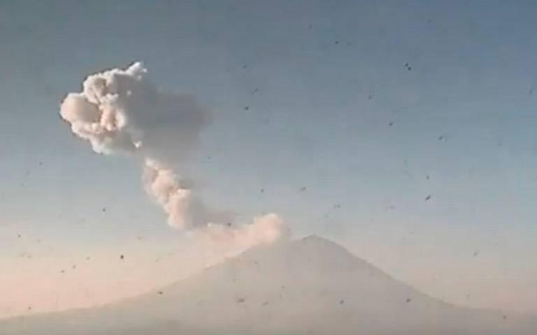 ¡Despierta el Popocatépetl! Lanza fumarola kilométrica por explosión