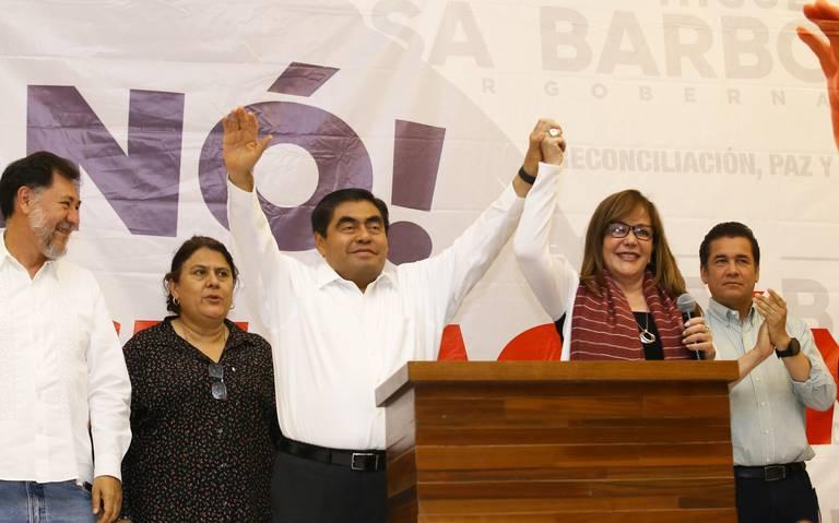 Barbosa ganador de la gubernatura de Puebla, revela conteo rápido del INE