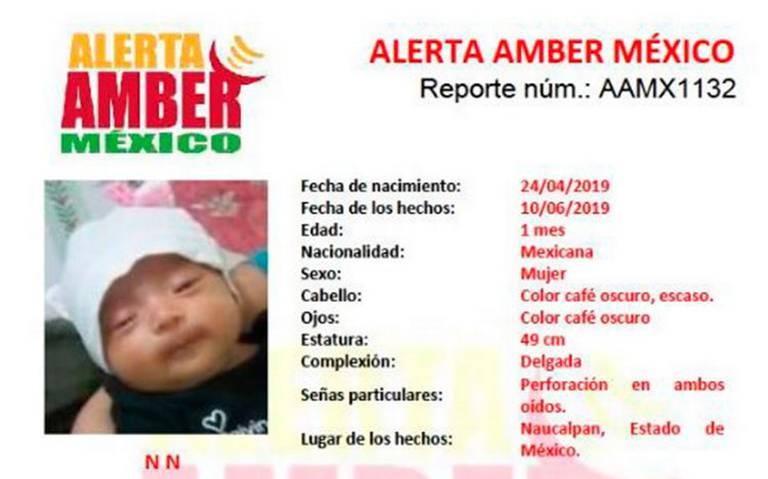 Hallan a la bebé robada en Registro Civil de Naucalpan