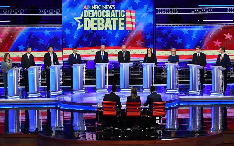 Migrantes tendrán seguro médico, proponen demócratas en segundo debate