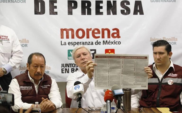 Impugnación electoral, un acto desesperado: Jaime Bonilla