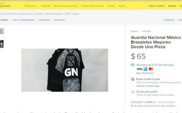 Venden por internet nuevas insignias de la Guardia Nacional