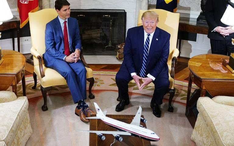 Trudeau dialoga con Trump sobre ratificación del T-MEC