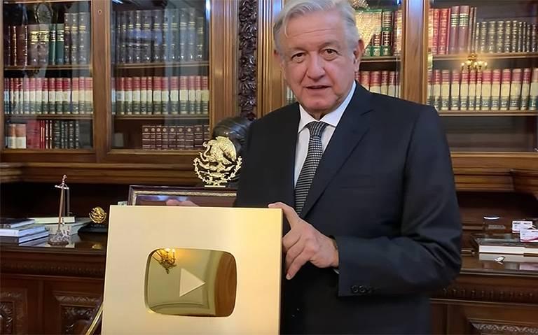 Botón de oro de YouTube es para AMLO; llega a un millón de suscriptores