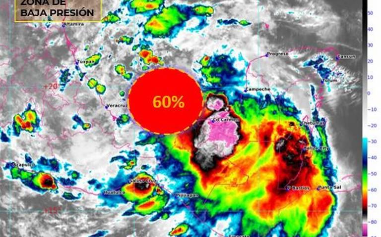 Emiten alerta por probable desarrollo ciclónico