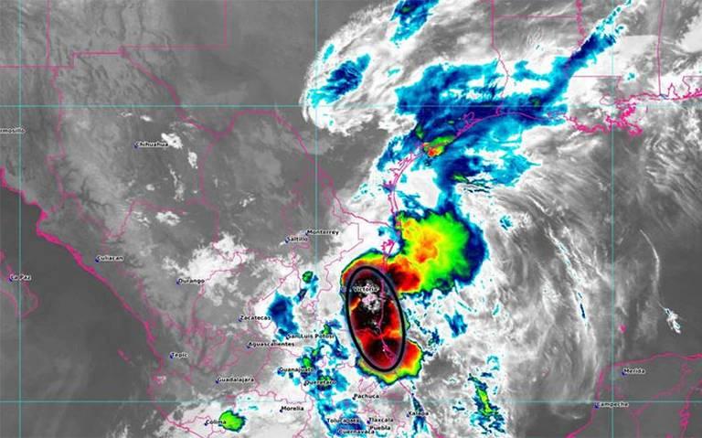 El Frente Frío No. 20 ocasionará lluvias intensas en Chiapas y muy fuertes en el norte de Oaxaca, Tabasco y el norte de Veracruz