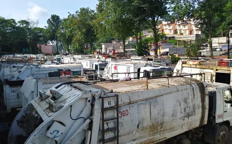 Inician paro de labores trabajadores de Limpia Pública de Xalapa