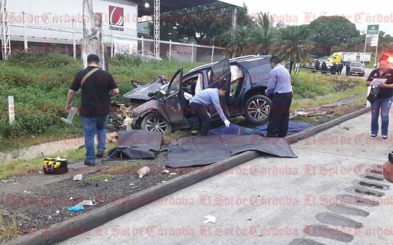 Dos muertos en accidente sobre autopista Puebla-Veracruz