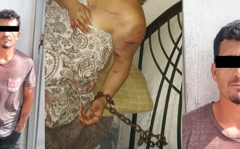 Macheteó a su esposa mientras estaba encadenada a la cabecera de la cama