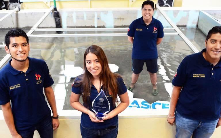 Triunfan alumnos de la UNAM en concurso de ingeniería civil en EU