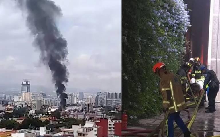 Bomberos sofocan fuerte incendio en la colonia Portales