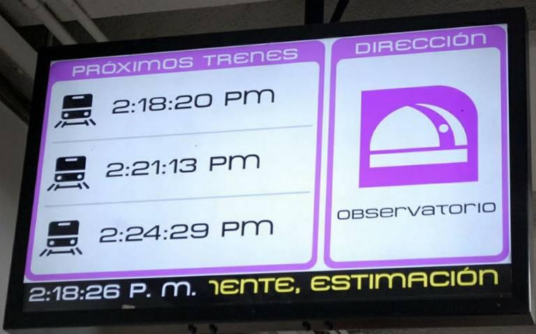 Metro avisa en tiempo real llegada de trenes a estaciones de Línea 1